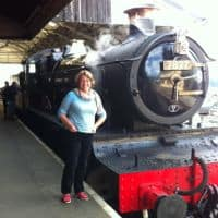 All aboard the steam train