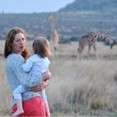 Alice with her 2-year old daughter in Kenya