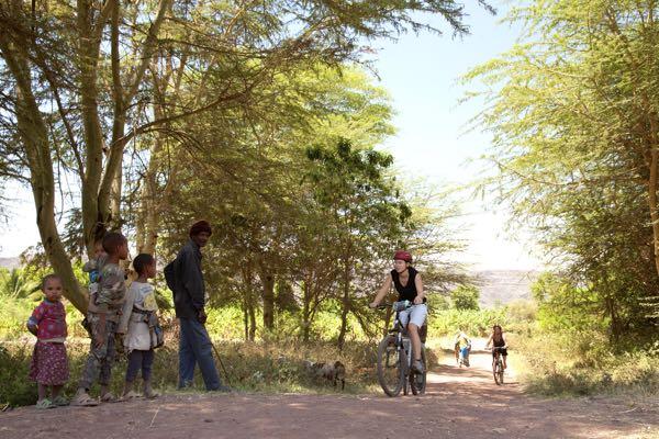 Cycle through rural villages