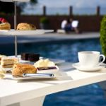 Afternoon tea, poolside