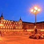 The Plaza Mayor at night