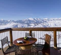 Luxury skiing in Wyoming