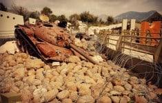 Abandoned Israeli tank. Photo: Angela Corrias