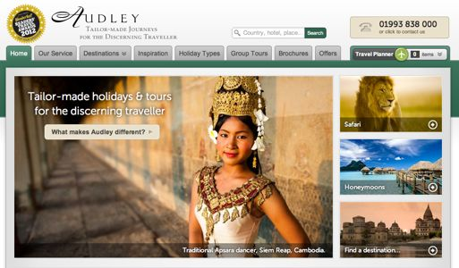 Audley Travel homepage
