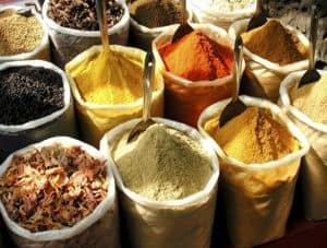Spices in Thekaddy, Southern India