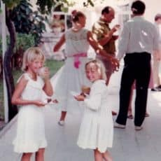 Alice and her sister living a virtual holiday lifestyle in Cyprus