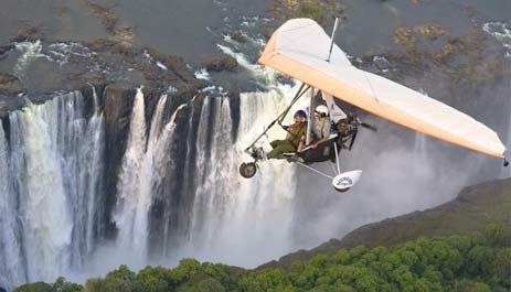 Teenage dream - microlighting above the Victoria Falls