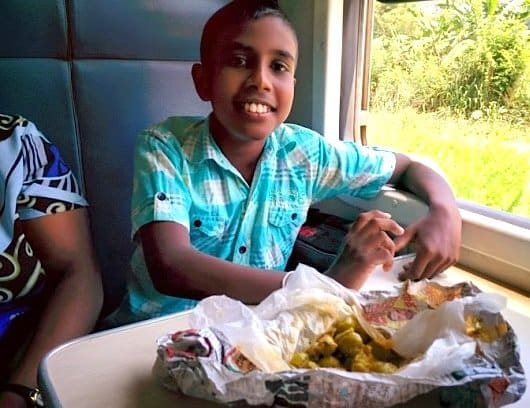 101 - Boy on Sri Lankan Train