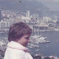 Alison in Monaco in 1973