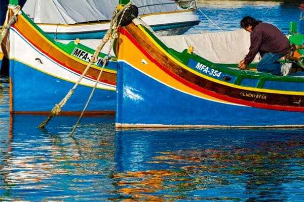 Luzzu - traditional fishing boats