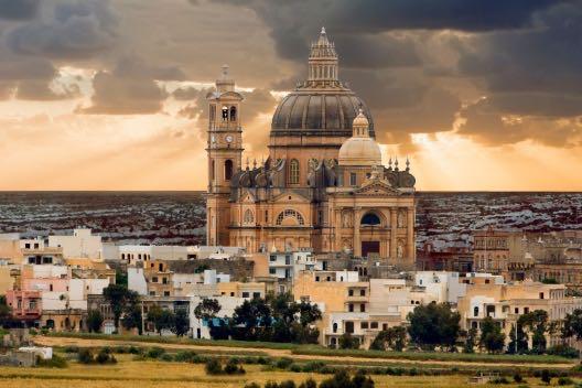 Church in Xewkija, Gozo, Malta