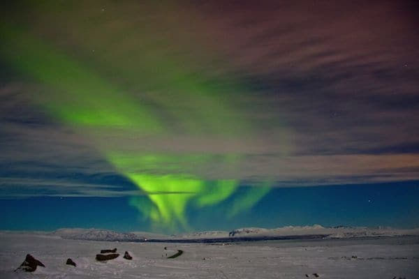 Inntravel - Northern Lights from the Icelandic Glacier
