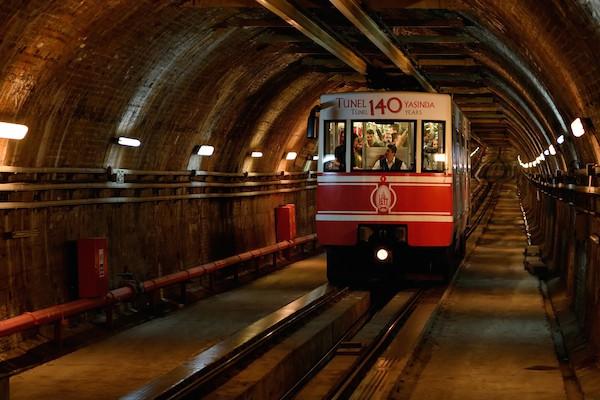 Underground funicular