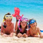 Happy kids in Barbados