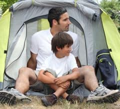 Single parent glamping