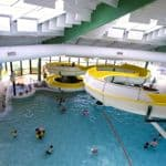 Indoor pools and slides