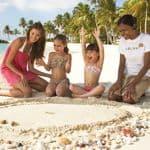 Christmas family holiday on beach