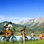 Cycling lakeside