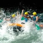 White water rafting in Northern Spain
