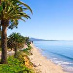 Butterfly beach along Channel Drive in Santa Barbara, California.