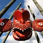 Traditional Maori carving