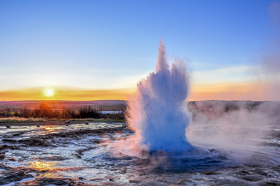 Strokkur is a geyser in southwestern Iceland. Golden Circle from Discover the World
