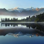 Lake Matheson near Fox Glacier, South Island