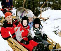 visit santa lapland sleigh