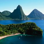 Beaches and the Pitons