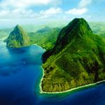 Piton mountains, St Lucia