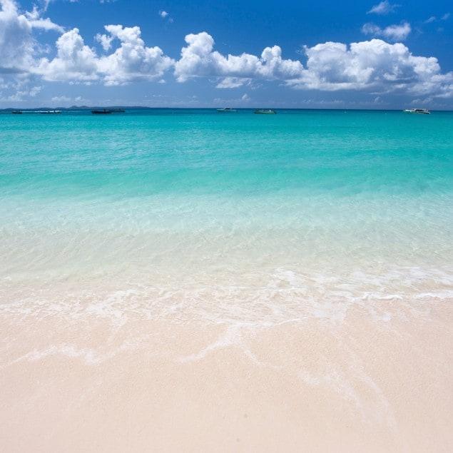 Beautiful beach and sea on Anguilla island, Caribbean