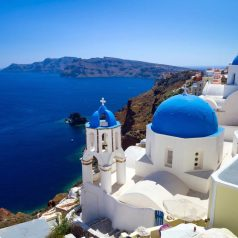 Santorini is one of the hottest Greek islands in April