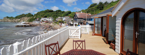 Boathouse at Steephill Cove
